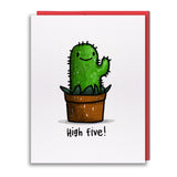 Card - High Five! Cactus Buddy