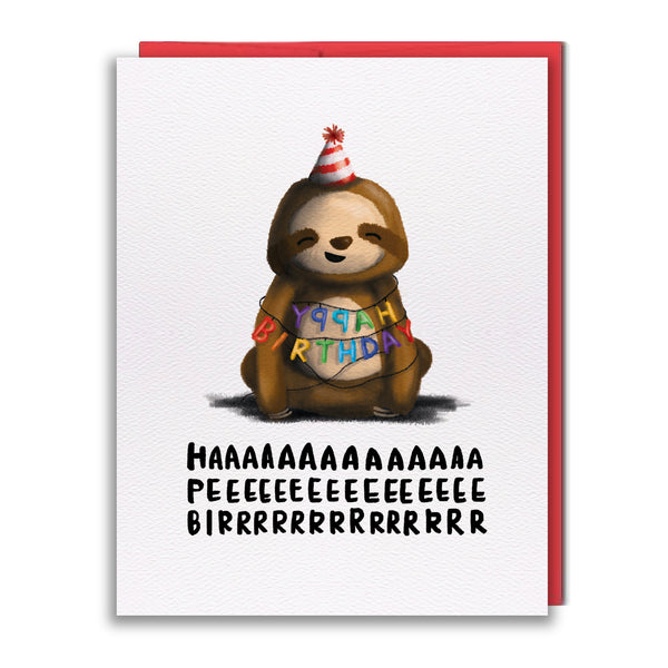 Card - Birthday Sloth