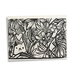 Linocut Print - Mountain Love Cat