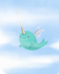 8x10 Print - Narwhals Can't Fly