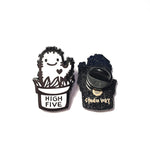 Enamel Pin - High Five Cactus (B/W)