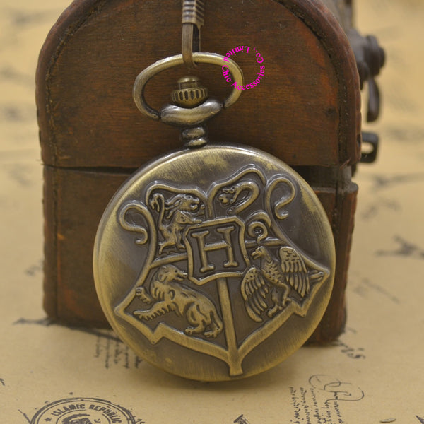 Harry Potter Hogwarts Badge Pocket Watch