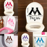 Harry Potter Ministry Of Magic This Way Toilet Vinyl Sticker