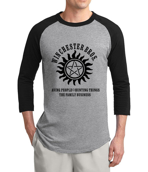 Supernatural Winchester Bros 3/4 Sleeve Shirt