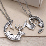 Woodland Creatures 2Pcs Lover's Deer Necklace