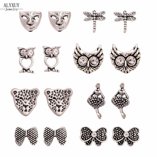 Woodland Creatures Owl Stud Earring