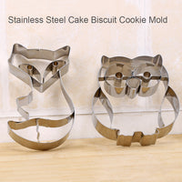 Woodland Creature Owl Fox Cookie Cutter