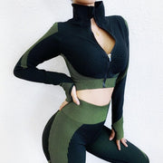 Long Sleeve Top High Waist Seamless Set