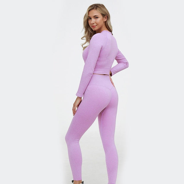 Long Sleeve Seamless Yoga Set