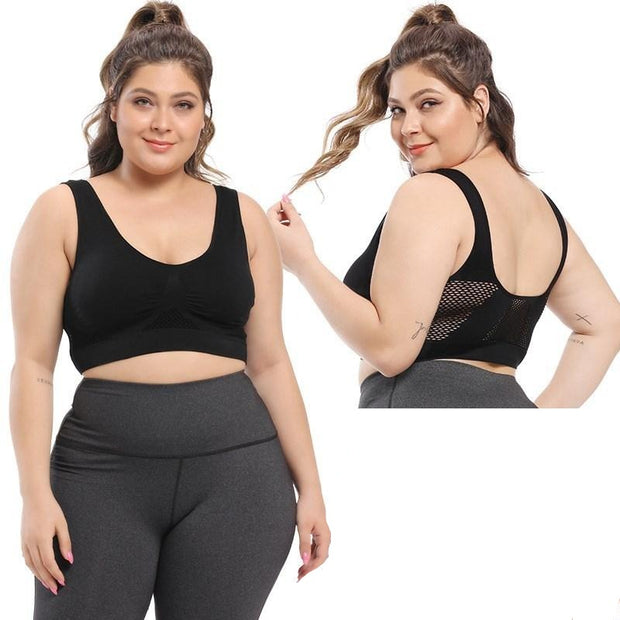 Seamless Push Up Yoga Bra