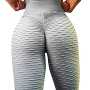 Our amazing Brazilian butt lift leggings offer support and a chance to really get that butt looking good. They are made of polyester and spandex. You can choose from ten different colors and textured styles. They are also anti-cellulite.