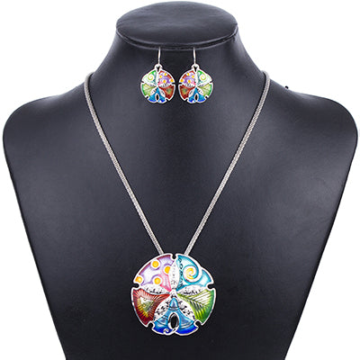 Sand Dollar Jewellery Necklace & Earring Sets