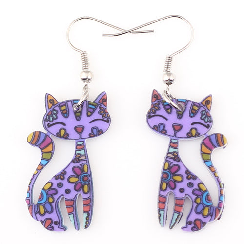 Cat  Dangle Earring 4 Colours!