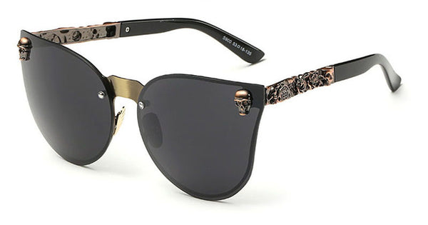 Cool Catseye Sunglasses Crystal Skull Steampunk Sunglasses High Quality Rhinestone !