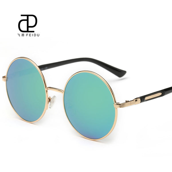 Round Mirror Steampunk Sunglasses