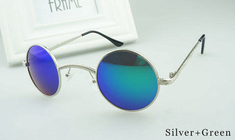 Victorian Steampunk Sunglasses  - Small Round Metal Hollow Frame