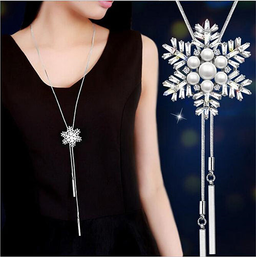 Zircon Long Crystal Maxi Necklace & Pendants