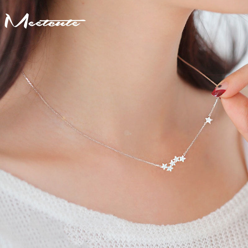 Beautiful Star 925 Sterling-silver Necklace