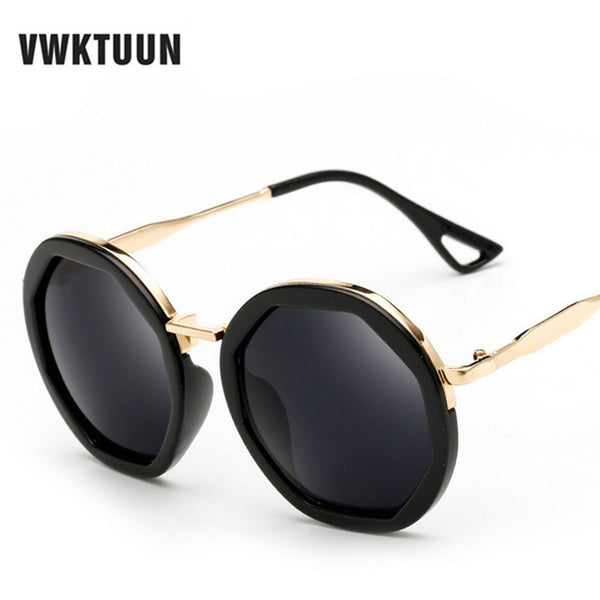 Oversized Retro Round Steampunk Mirror Sunglasses