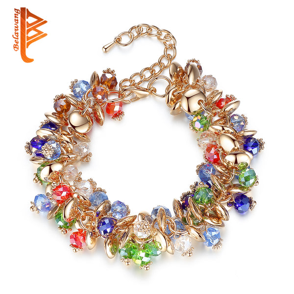 new for 2018 stunning multi coloured Crystal Stone Bracelet