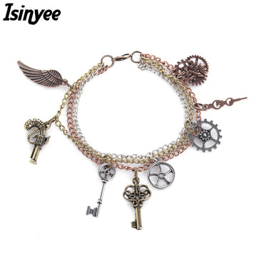 Angel Wings Gears SteamPunk  Bracelets
