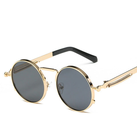 Vintage  Retro Round Steampunk Sunglasses