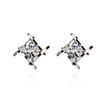 Square Zircons Earrings