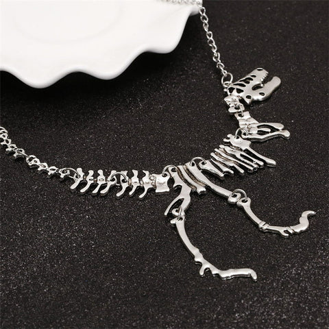 Long Necklace Tyrannosaurus Rex Skeleton Dinosaur  Necklace