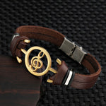 Stylish Musical Bracelet  with genuine leather strap