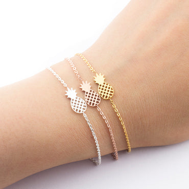 Delicate and pretty Pineapple Bracelet in three variants