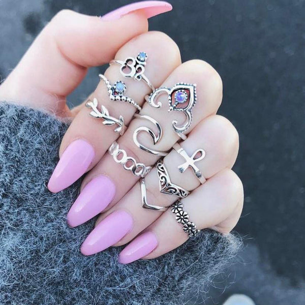 New 10pc Boho Vintage Midi Ring Set