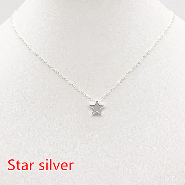 Pretty star heart choker Necklace