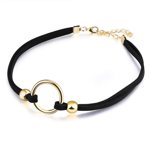 Choker Necklace Stretch Velvet with ring accessory!