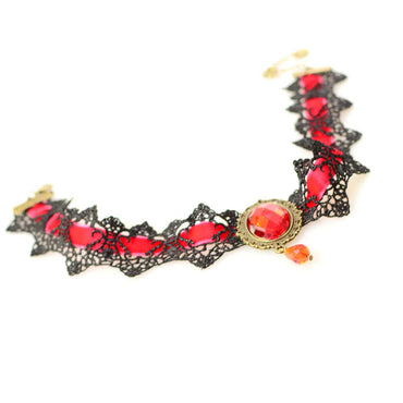 Lace & Beads Steampunk Choker Necklace