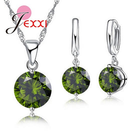 Rich crystal pendant necklace! - 925 Sterling Silver