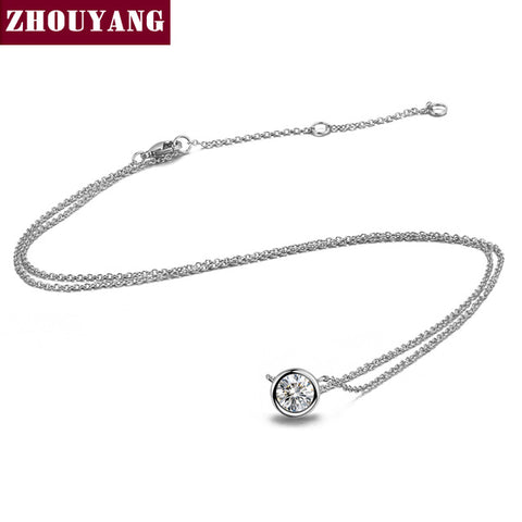 Top Quality Simple Style Crystal Pendant Necklace