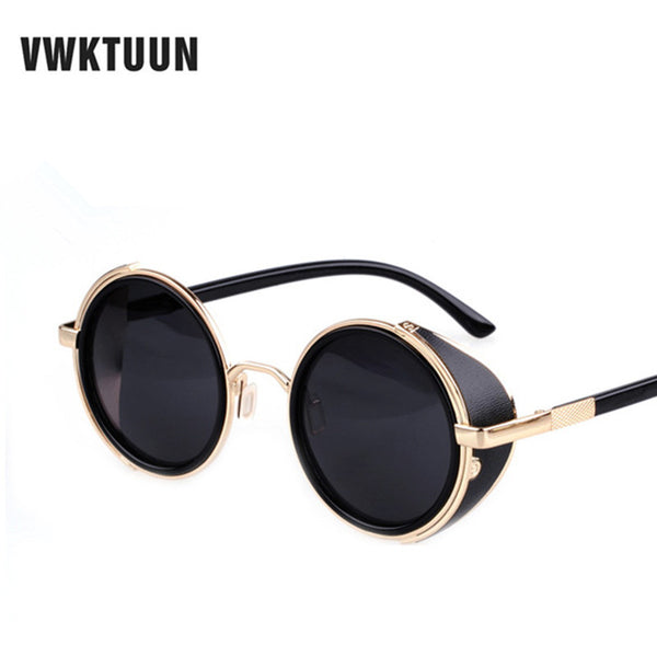 Steampunk Mirror Round Sunglasses