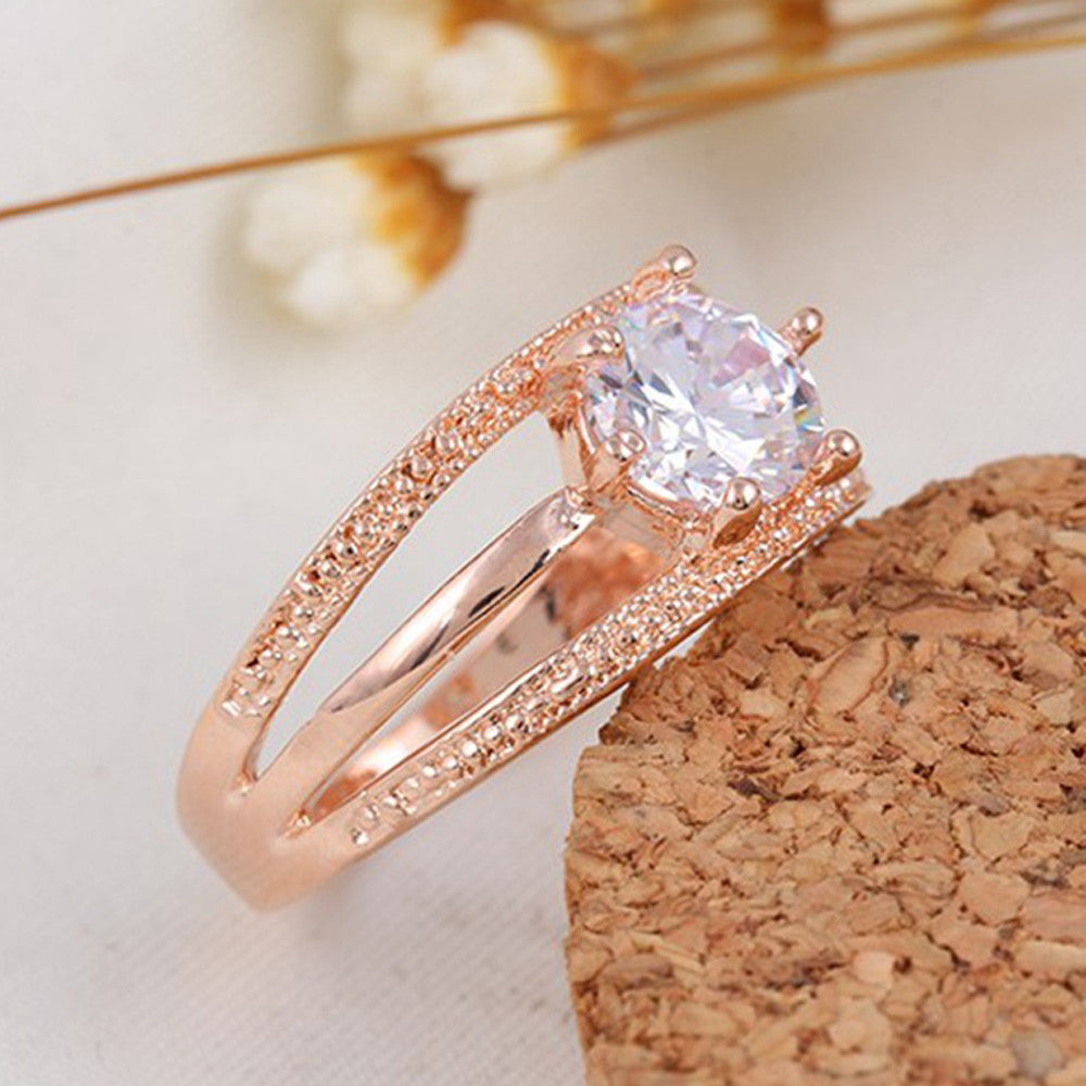 Beautiful Crystal Gold Plated Ring
