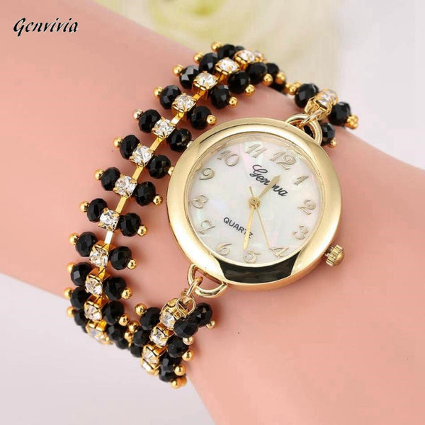Beautiful Women's luxury  Watch with Rhinestone Bracelet