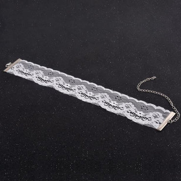 Retro Women's Lace Chain Choker Necklace BK
