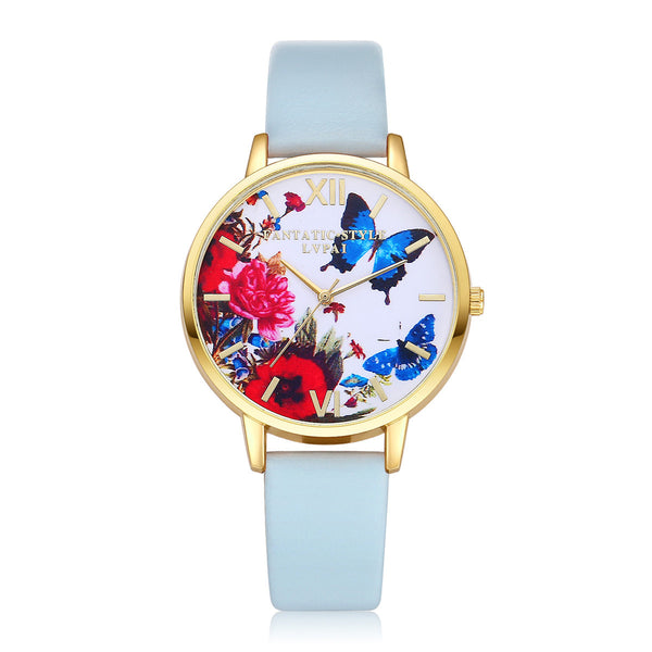 Beautiful Women's Quartz Butterfly Wristwatch