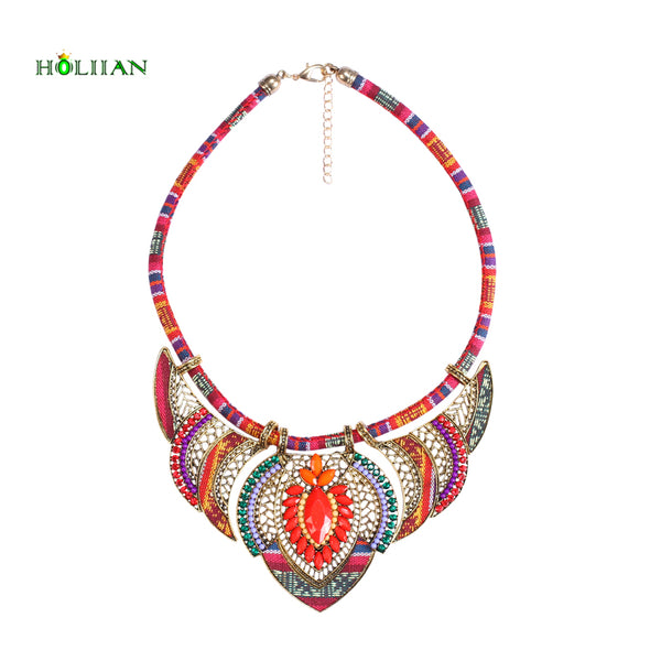 Ornate Vintage Boho style choker & pendant Necklace
