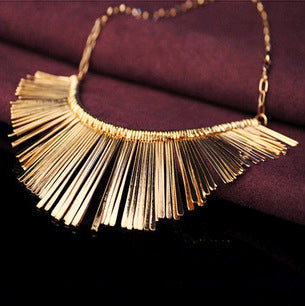 Tassel Choker Statement Necklace