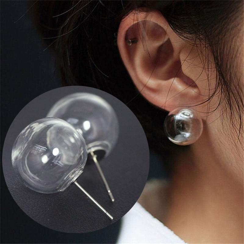 Transparent Ball Bubble Earring Latest trend 2018