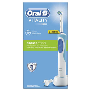 Cepillo de Dientes Eléctrico Oral-B CrossAction Vitality Blanco - My Beauter Shop