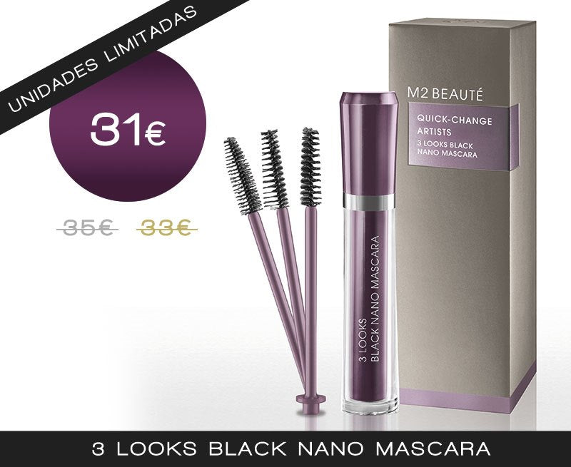 3 Looks Black Nano Mascara UNIDADES LIMITADAS - My Beauter Shop