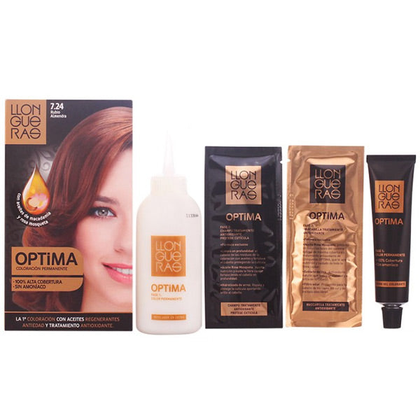 Llongueras - LLONGUERAS OPTIMA hair colour 7.24-almond blond - My Beauter Shop