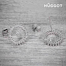 Pendientes de Plata Esterlina 925 con Zirconitas Winner Hûggot - My Beauter Shop