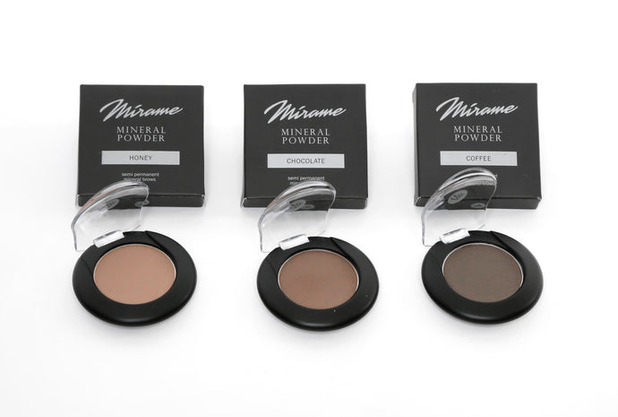 Kit Mírame Eyebrows Design (1 Sombra Mineral Semipermanente + 9 Plantillas + 1 Pincel Doble)