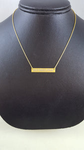 "SKOSH--""But First, Pray"" Bar Necklace"